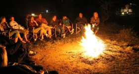 Evening Bonfire at Camp on Kenya Vintage Safari